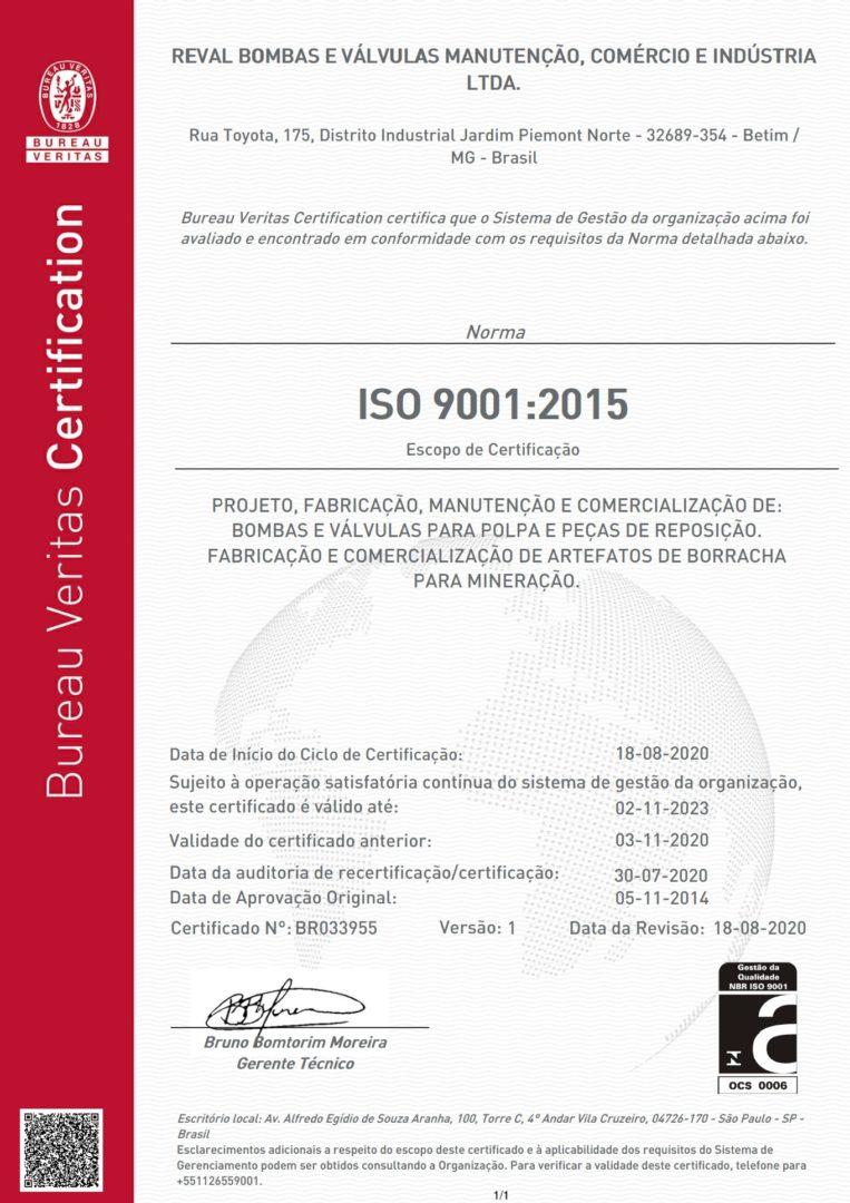 Empresa Certificada com o ISO 9001