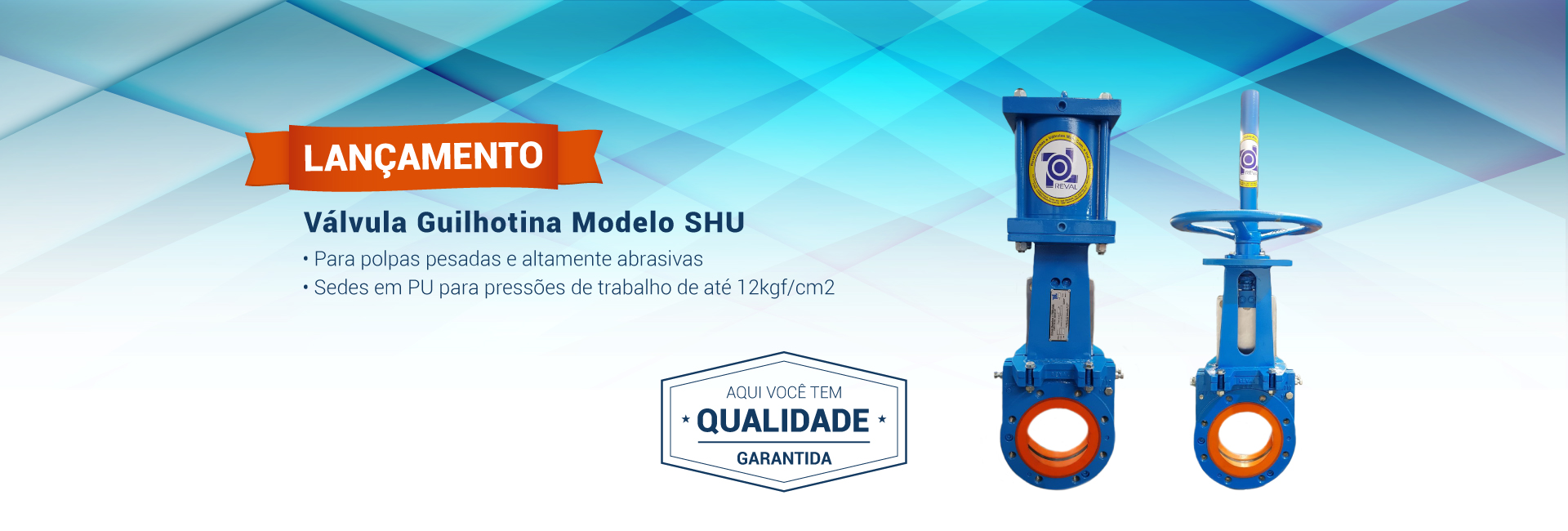 Válvula Guilhotina - Modelo SHU